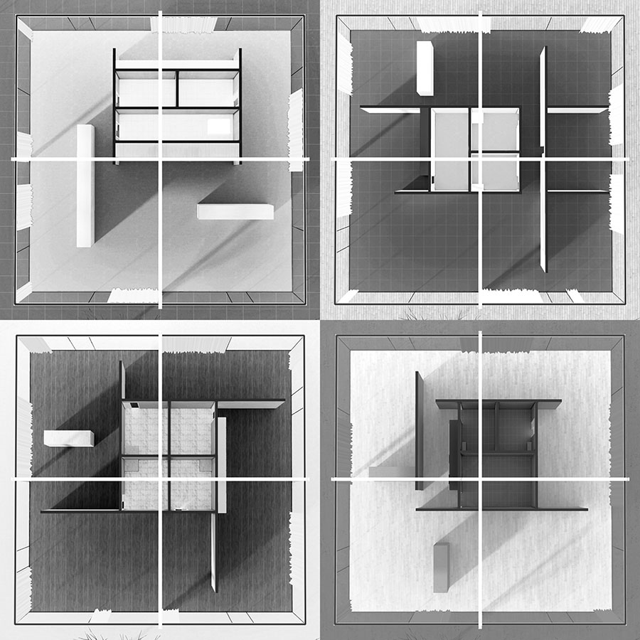 The Core House By Ludwig Mies Van Der Rohe # Muebles Mies Van Der Rohe Autocad